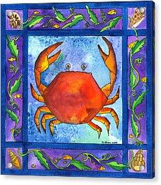 Crab Acrylic Print by Pamela  Corwin