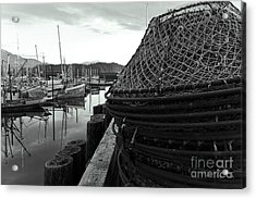 Crab Traps Acrylic Print by Darcy Michaelchuk