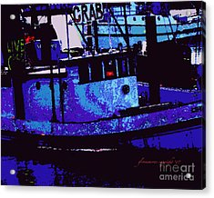 Acrylic Print featuring the digital art Crabs For Sale by Glenna McRae