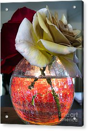 Acrylic Print featuring the photograph Crackle Glass by Leslie Hunziker