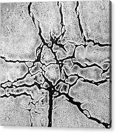 Cracks Acrylic Print by Gerard Hermand