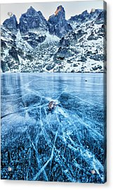 Cracks In The Ice Acrylic Print by Evgeni Dinev