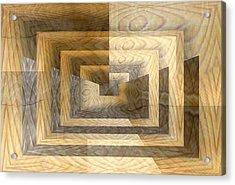 Cracks In The Veneer Acrylic Print by Tim Allen