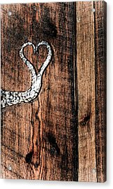 Acrylic Print featuring the photograph Crafted Heart by Michelle Joseph-Long