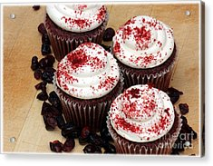 Cranberry Cupcakes Acrylic Print by Sophie Vigneault