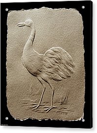 Crane Bird Acrylic Print