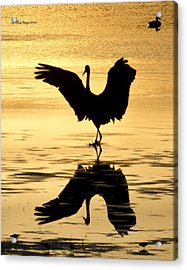 Crane Silhouette Acrylic Print