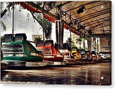 Crash Cars Acrylic Print by Gabriel Calahorra