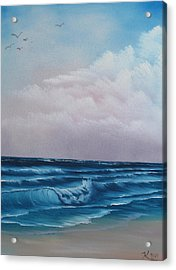 Crashing Wave Acrylic Print by Kevin Hill