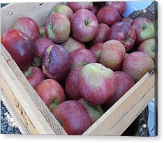 Crate Of Apples Acrylic Print by Kimberly Perry
