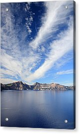 Crater Lake Sky Acrylic Print by Pierre Leclerc Photography