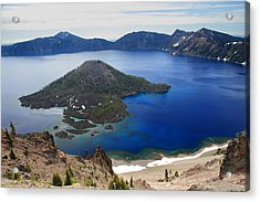 Crater Lake Wizard Island Acrylic Print by Pierre Leclerc Photography
