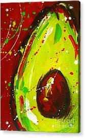 Crazy Avocado 3 - Modern Art Acrylic Print