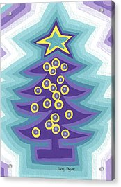 Crazy Christmas Tree Acrylic Print