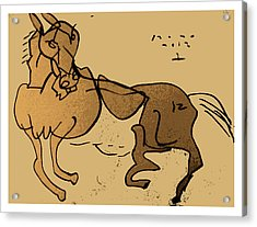 Crazy Horse Acrylic Print by Peter Szabo