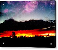 Crazy Sunset Acrylic Print by Raven Janush