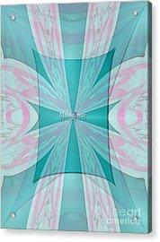 Cream Mint Flow Acrylic Print