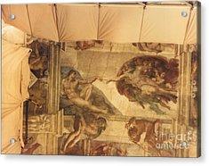 Creation Of Adam With Scaffolding Acrylic Print