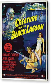 Creature From The Black Lagoon, Bottom Acrylic Print by Everett