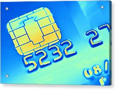 Credit Card Microchip, Computer Artwork Acrylic Print by Pasieka