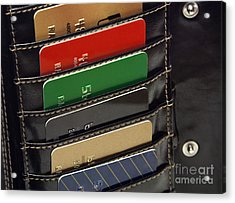 Credit Cards In Wallet Acrylic Print by Blink Images