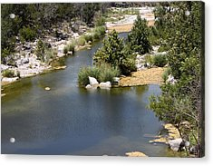 Creek In Marble Falls Acrylic Print by Linda Phelps