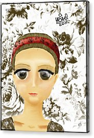 Creepy Face Acrylic Print by Heizel Gonzalez