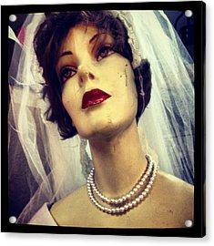 Creepy Vintage Bride Acrylic Print