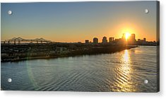 Acrylic Print featuring the photograph Crescent City Sunset by Ray Devlin