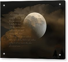 Cresent Moon  Acrylic Print by Joseph G Holland