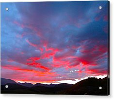 Crested Butte Alpenglow Acrylic Print