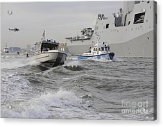 Crews From The Coast Guard And Police Acrylic Print by Stocktrek Images