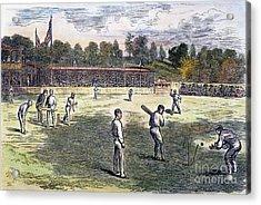 Cricket Match, 1879 Acrylic Print