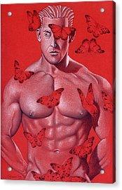 Crimson Flight Acrylic Print by Chance Manart