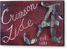 Crimson Tide Acrylic Print by Racquel Morgan
