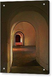 Acrylic Print featuring the photograph Cristobal Corridor by Deborah Smith