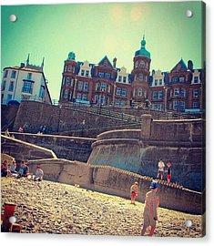 #cromer #beach And The #sea #reflecting Acrylic Print