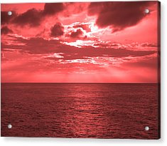 Cromer Sky Acrylic Print by Julian Smith