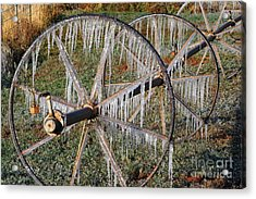 Acrylic Print featuring the photograph Crops Of Ice #2 by Nola Lee Kelsey