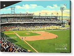 Crosley Field Baseball Stadium In Cincinnati Oh Acrylic Print by Dwight Goss
