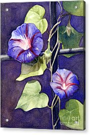 Acrylic Print featuring the painting Cross And Glory by Bonnie Rinier