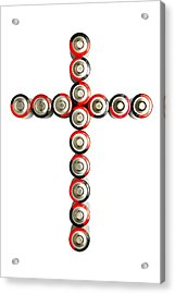 Cross Batteries 1 B Acrylic Print by John Brueske