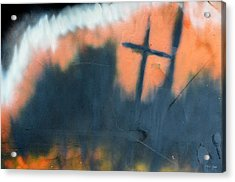 Acrylic Print featuring the painting Cross by Chriss Pagani