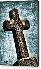 Cross Acrylic Print by Darren Fisher