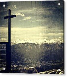 Cross In The Sky Acrylic Print by Joana Kruse