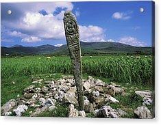 Cross Slab, Dingle Peninsula, Co Kerry Acrylic Print by The Irish Image Collection