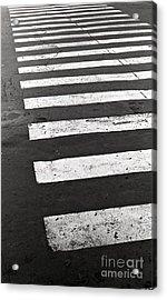 Cross Walk Acrylic Print by Gabriela Insuratelu