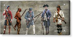 Crossed Paths French And Indian War Acrylic Print by Randy Steele