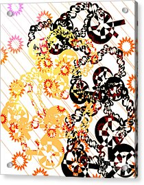 Crosses And Chains  Acrylic Print by Melissa  Hardiman