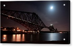 Crossing The Firth Under A Full Moon Acrylic Print
